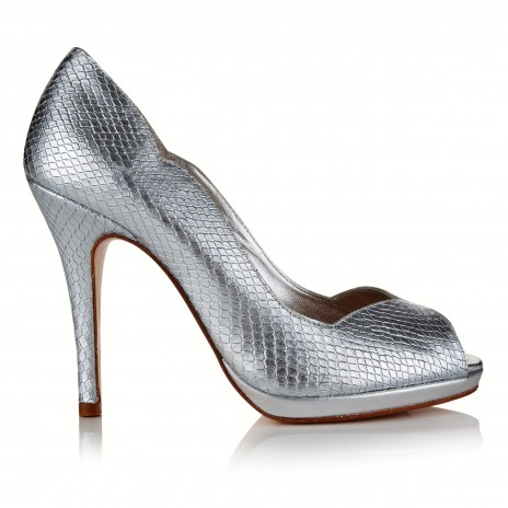 Leonie Silver Snake Leather