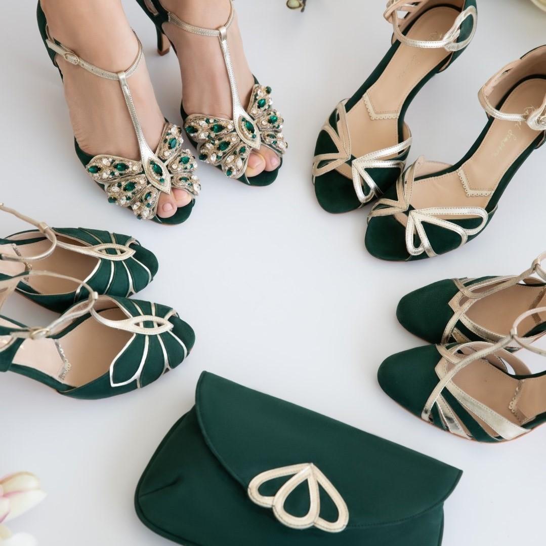 Buty w odcieniach zieleni
