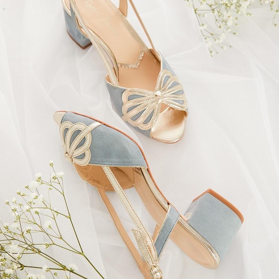 Buty w niebieskich odcieniach